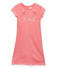 Loving this Pink Cat Shift Dress - Infant, Toddler & Girls on #zulily! #zulilyfinds