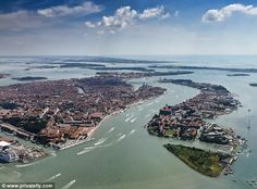 Venice Marco Polo Airport, Italy, is surrounded by a beautiful seascape, on the approach to Italy's city of canal. According to one judge on the poll - sit on the right hand side of the aircraft for the best view
