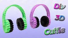 Cuffie 3D con Hama Beads/Perler Beads Headphone Tutorial ♥