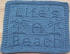 DigKnitty Designs: Life's A Beach Knit Dishcloth Pattern
