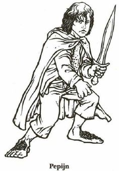 The Lord of the Rings Character Gollum Coloring Page: The Lord of ...