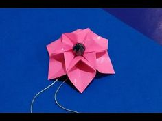 EASY to do Origami flower - necklace. 3d origami flower. Enjoy! - YouTube