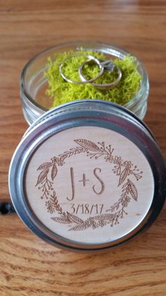 Check out this item in my Etsy shop https://www.etsy.com/listing/490903360/personalized-mason-jar-ring-box