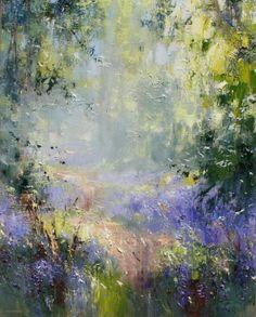 British Artist Rex PRESTON - Spring Woodland