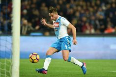 Napolis player Emanuele Giaccherini scores the 2-0 goal during the Serie A match between SSC Napoli and Genoa CFC at Stadio San Paolo on February 10, 2017 in Naples, Italy.