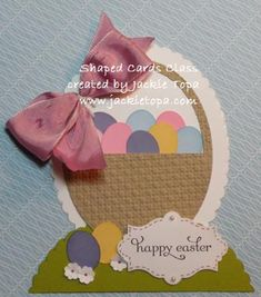 Jackie's video tutorial for making her Easter Basket card with the Ovals Framelits. All supplies from Stampin' Up!