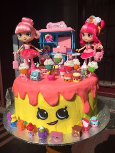 Bolo Shopkins, Shopkins Birthday Cake, Happy Birthday Sister Cards, Birthday Cake Girls, 8th Birthday, Brithday Cake, Bunny Party, Girl Cakes, Cute Cakes