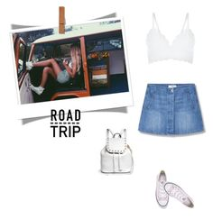 """""""Summer Road Trip Essentials!"""" by marialibra ❤ liked on Polyvore featuring MANGO, New Look, Converse, Rebecca Minkoff and roadtrip"""