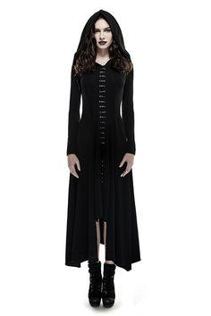 28d3c8af534d Bagira Black Gothic Coat-Dress by Punk Rave Dunkle Hexe, Kleidung  Accessoires, Kleider