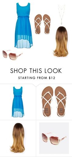 """""""Walk along the sand"""" by mrsgomez-343 on Polyvore featuring Billabong, Avenue, House of Harlow 1960 and beach"""