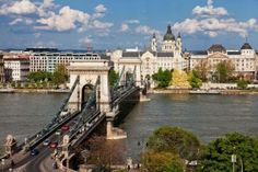 The Chain Bridge, Budapest's first permanent bridge crossing the Danube.
