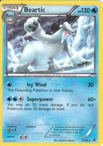 Pokemon Black and White Emerging Powers Rare Card- Beartic #31