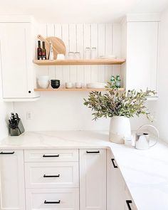 How to Decorate Amazing Envy Worthy Shelves — Jessica Devlin Design White Cabinets, Kitchen Cabinets, Spice Chart, Interior Photo, Marble Countertops, Home Pictures, Shelves, House, Envy