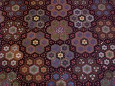 antique hexagons quilt