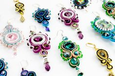 Learn to make your own stunning soutache jewellery at the London Jewellery School http://www.londonjewelleryschool.co.uk/taster-classes/soutache-jewellery-taster-class/