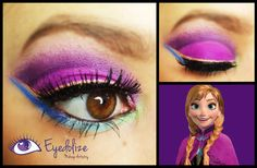 Check out this Anna from Disney's Frozen inspired eyeshadow tutorial at www.youtube.com/eyedolizemakeup #Eyedolize #EyedolizeMakeup