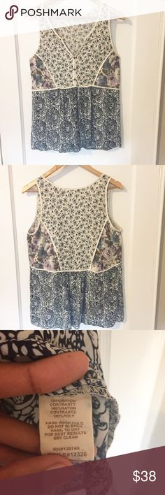 Boho Floral Tank In Great Condition, Feel free to make a reasonable offer of add to a bundle 😃 Mystree Tops Tank Tops