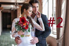 Свадебный букет в красных тонах. Flower-fantasy