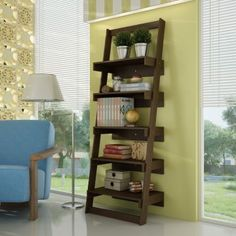 Fab Home Philip Book Rack With Five Shelves Wenge