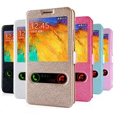 Luxury Smart Front Window View Leather Flip Case For samsung galaxy s4 s5 s6 j5 A5 Grand Prime case Coque Cover-in Phone Bags & Cases from Phones & Telecommunications on Aliexpress.com | Alibaba Group