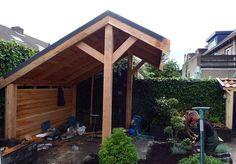 Zelf een Lariks Douglas kapschuur overkapping bouwen met hout en dakbedekking van Gadero.nl