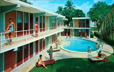 Lots of cool retro pool ideas in here! A Compendium of Vintage Pool Parties: Beaux-Arts Apartments Fort Lauderdale, FL Mod Pool, Century Hotel, Mid Century, Buy A Pool, Building A Swimming Pool, Moderne Pools, Pool Installation, Vintage Hotels, Haha