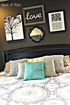 love decor over bed by kathrine