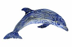 Tribal Dolphin Watercolor by Frits Ahlefeldt #dolphins #whale #ocean #tattoos #painting #tribal #spirit #animals