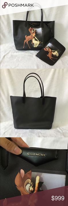 Auth Givenchy NEW Bambi Large Leather Tote Black Brand new never used! 9.9/10 condition. Bag is sold as is. GUARANTEED 100% AUTHENTIC. PHOTOS ARE TAKEN OF THE EXACT SAME ITEM YOU WILL RECEIVE! WHAT YOU SEE IS WHAT YOU GET*** PLEASE VISIT OUR WEBSITE AT WWW.AUTHENTICLUXURIESTW.COM or email me at authenticluxuries11@gmail.com for more detailed photos =). Givenchy Bags Totes