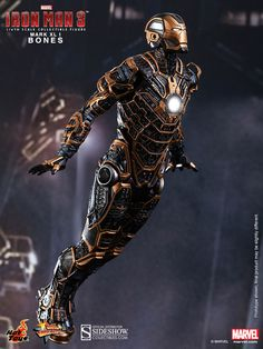 The Iron Man Mark XLI 'Bones' Sixth Scale Figure from Hot Toys now available at sideshow.com for fans of Iron man 3 and marvel.