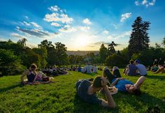 Best Places To Watch Sunset In Prague Riegrovy Sady