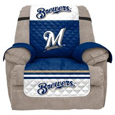 MLB Milwaukee Brewers Recliner Slipcover