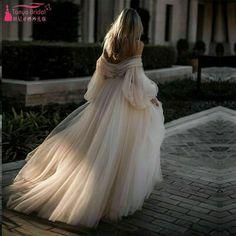 Tulle Skirt Wedding Dress, Long Sleeve Bridal Dresses, Pretty Wedding Dresses, Amazing Wedding Dress, Long Sleeve Wedding, Dress Lace, Bridesmaid Dresses, Wedding Gown Off Shoulder, Ethereal Wedding Dress