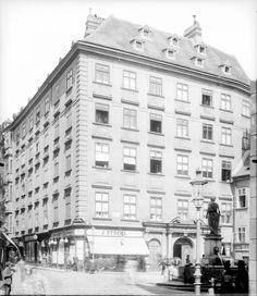 Wien 1, Franziskanerplatz 1   Stauda, August Austro Hungarian, Vienna, Medieval, Street View, City, Mid Century, Middle Ages, Cities