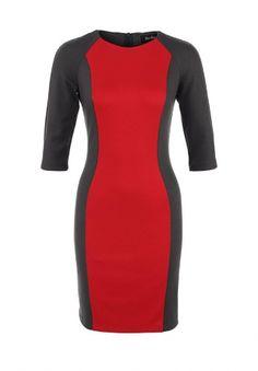 Платье LuAnn, цвет: красный, серый. Артикул: LU100EWCYK30