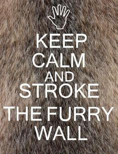 ---Get Him to the Greek...when life slips you a Geoffrey, keep calm and stroke the furry wall...Funnier with the whole quote...