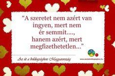 A Szeretet...