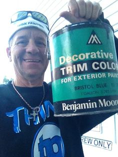 "Yes that is a old Benjamin Paint can from the 70""s !!  We are very experienced painters!!!"