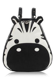 Cute Zebra PU Backpack