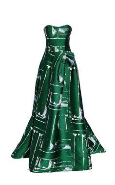 dream dress (carolina herrera of course!) // green strapless gown