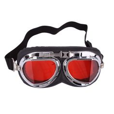d8f27047ee Silver-plated Frame and Clear Red Lens Right Angle Motorcycle Safety Goggle  Clear Dura-streme Hardcoat anti-fog Lens by Crazy.  1.67. Features  1.