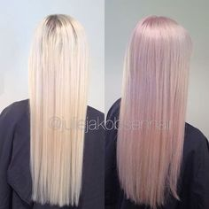 Pink+lavender= 20g pink dream+ 20 g smokey amethyst + 10g muted mauve 4% 1/8 @olaplexnorge for 10 minutes in wet hair  This color was impossible to take a good picture of, it was even prettier in real life  #wellalife #instamatics #wellamastercolorexpert #olaplex #olaplexnorge #wellahair #pastelhair #pastel #wellaeducation