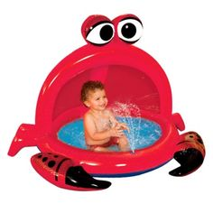 Banzai Crazy Crab Spray pool - for the beer Pool Water Slide, Water Slides, Play Pool, Kiddie Pool, Pool Toys, Crab Party, Seafood Party, Activity Games, Activities