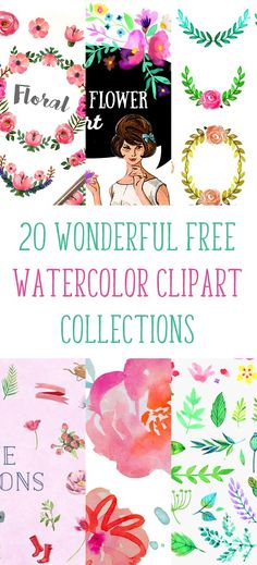 20 wonderful free watercolor clipart collections - Free Pretty Things For You