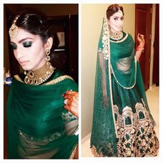 Beautiful emerald Ridhi Mehra Bridal