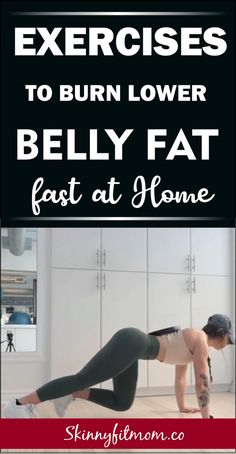 The best 11 exercises to lose belly fat and flatten tummy fast. These exercises are easy for beginners and you can do these workouts at home to lose belly pooch and get a flat stomach Burn Lower Belly Fat, Lose Stomach Fat Fast, Fat Belly, Lower Stomach, Losing Belly Fat Fast, How To Lose Belly Fat, Flat Tummy Fast, Lower Belly Pooch, Fast 8