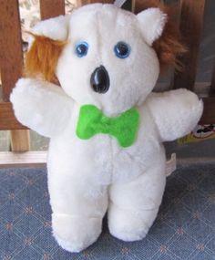 9-034-SUPERIOR-Toy-amp-Novelty-WHITE-amp-Brown-KOALA-BEAR-w-Green-Bow-BLUE-EYES-15