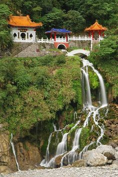 Eternal Spring Shrine in Taroko Gorge Taiwan