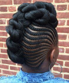 Dope style by @kiakhameleon - http://community.blackhairinformation.com/hairstyle-gallery/braids-twists/dope-style-kiakhameleon/