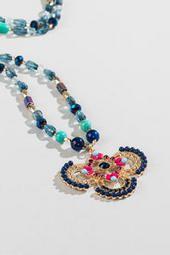 Leanor Beaded Pendant Necklace